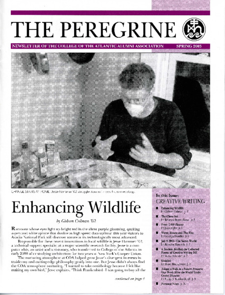 The Peregrine, newsletter, Spring 2003