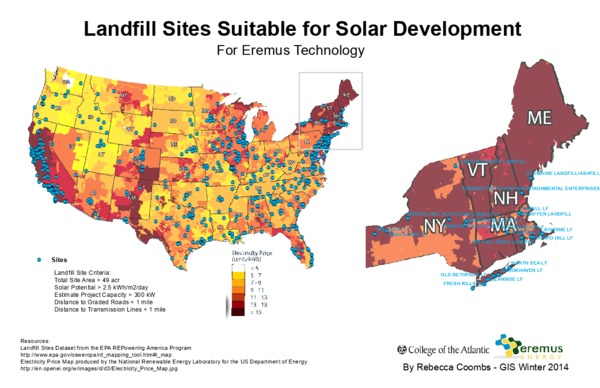 Landfill Sites Suitable for Solar Development