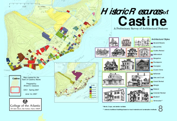 Historic Resources of Castine: A Preliminary Survey of Architectural Features