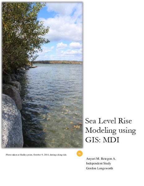 Sea Level Rise Modeling using GIS: MDI