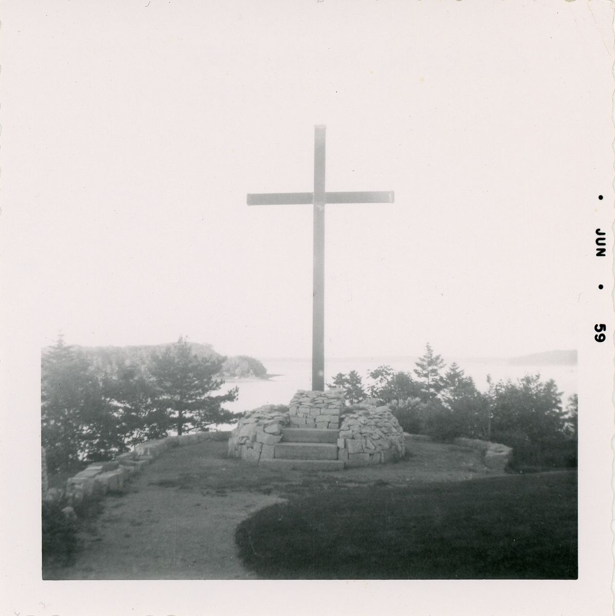Oblate Seminary Cross, photograph, June 1959