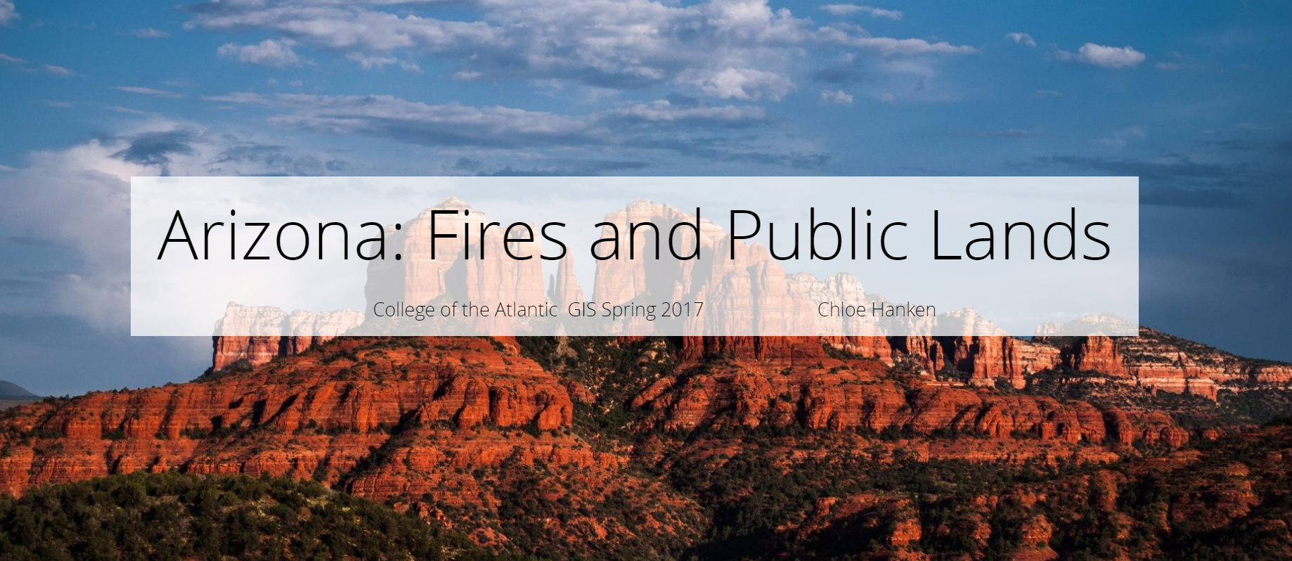 Arizona: Fires and Public Lands