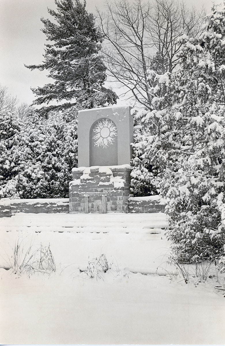 The Shrine in Winter, photograph