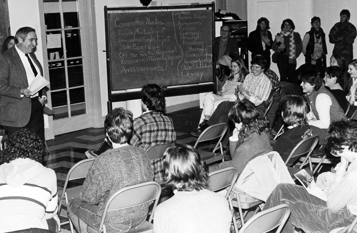All College Meeting, photograph, 1990