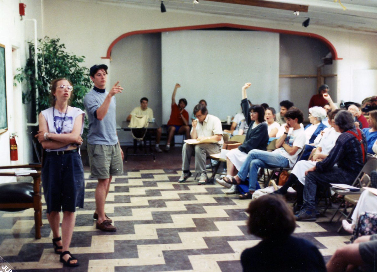 All College Meeting, photograph, Spring 1992