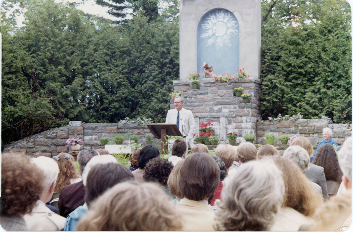 Edward (Ed) Kaelber at Commencement, photograph, June 1981