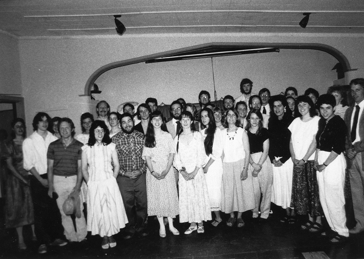 Commencement Group, photograph, June 1988